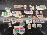 Stamp collection, worldwide, pre-decimalisation and more recent, sorted. 200g
