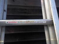 aluminum ladder 3.8m/5.5m max vgc