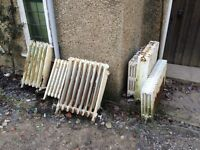 Traditional free standing traditional Victorian cast iron radiators (sold as a lot or individually)