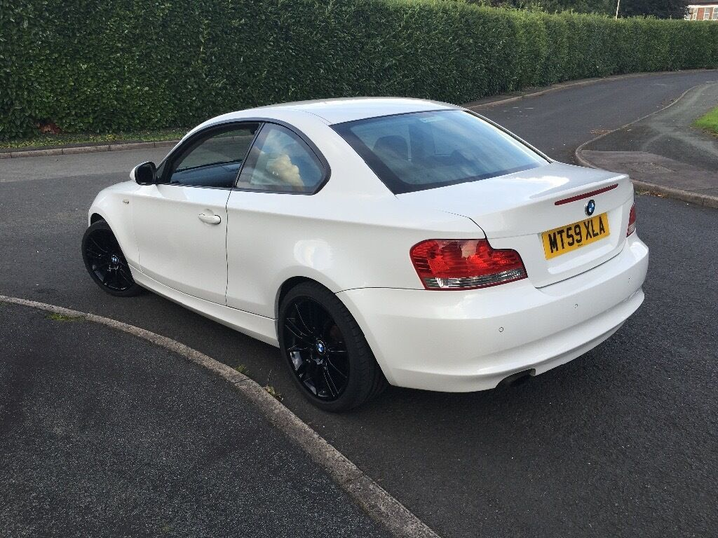 2010 bmw 1 series coupe sport white full leather interior 30 a year road tax in - Bmw 2 series coupe white ...