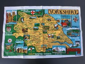 Tea Towel with Yorkshire Map, brandnew