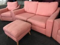 NEW - EX DISPLAY John Lewis DOMA 2 SEATER + 1 SEATER + 1 SEATER SOFAS, 70% Off RRP