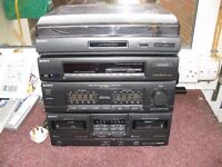 Sony Black Compact HiFi Stereo System, With Spks, Rem, Model XO-D501.