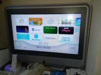 wii game console and extra + TV