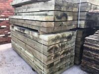 ☀️New Tanalised Wooden Railway Sleepers