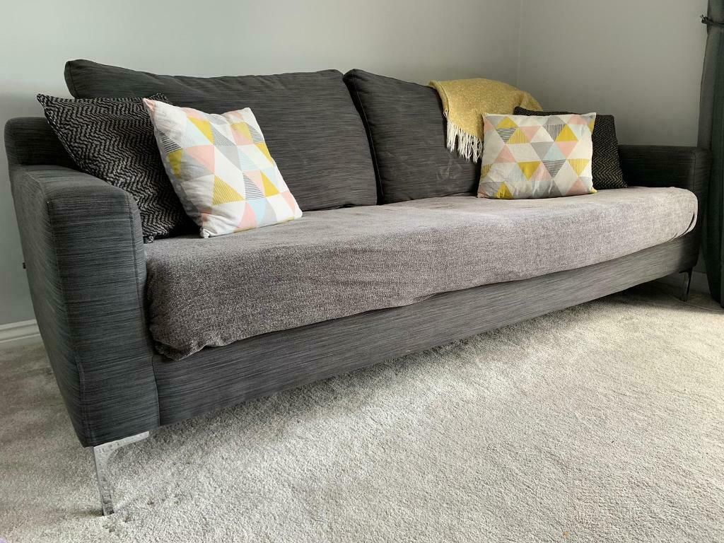 Groovy Grey 3 Seater Sofa And Arm Chair In Rochdale Manchester Gumtree Dailytribune Chair Design For Home Dailytribuneorg
