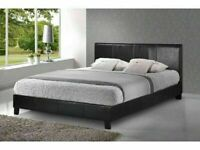 Quality Furniture- NEW DOUBLE AND KING SIZE LEATHER BED FRAME w OPT MATTRESS-CALL NOW