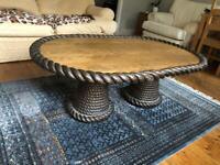 Unique Solid oak large coffee table