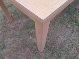 Six Seater Oak Veneer Dining Table