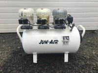JUN-AIR SILENT COMPRESSOR, 90l TANK, SIMILAR TO BAMBI COMPRESSORS