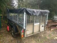 Ifor williams 10 x 5 large double axle high side trailer with ramp and inside attachments