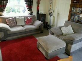 3+1 Seater Nutmeg Leyburn Sofa's +1 Nutmeg Leyburn Footstall (Can sell seperately)