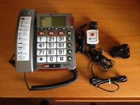 PowerTel 50 Alarm Plus large button telephone with emergency remote