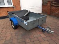 5ft x3ft Trailer. Very good condition/working electrics. Including heavy duty cover