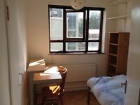 Nice, bright, clean single room. No bills to pay. Wifi. 1 minute walk to Kings Cross Tube Station.