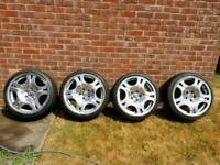 Bmw style 92 alloys and gr8 cond tyres