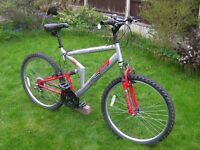 "Gents Apollo FS/26 Front and Rear suspension Mountain bike 26""Alloy wheels large 20"" frame 18 gears"