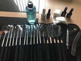 Gel nail set up, led lamp, gel polishes,