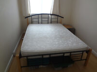 SOLD - Double bed with mattress - AVAILABLE FROM 30 OCTOBER