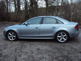 2008 08 AUDI A4 (B8) TFSI (160) S-LINE LOVELY CAR WITH FULL HISTORY AND JUST 2 OWNERS