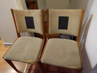 Free mid century Danish style lounge or kitchen chairs