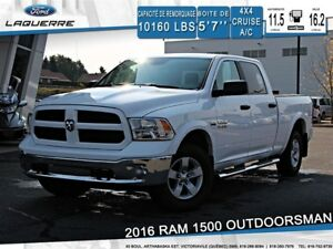 2016 Ram 1500 *OUTDOORSMAN*CREW*6 PLACES*4X4*CRUISE* BLUETOOTH**
