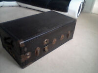 Vintage London Selfridge's Travelling Trunk with toughened glass top