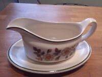 M & S autumn leave gravy boat and plate