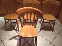 Beech chair ( 4 available)