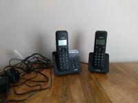 Binatone Digital Cordless Telephone with Answering Machine (Model: Luna 1220 Twin) Phone