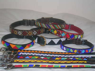 AFRICAN BEADED DOG COLLARS