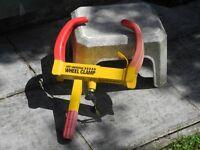 Wheel Clamp for caravan - adjustable!