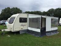Avondale Dart/Passione 630 6 Berth Twin Axle with Fiamma Caravanstore Porch Awning