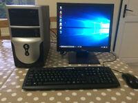 Dual Core Computer PC with Monitor, 4GB, 320GB Hard Drive, Windows 10