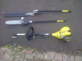 ryobi strimmer and chain and hedge cutter attaments