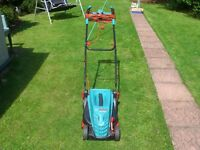 electric lawnmower Bosch Rotak 340er with grass box