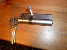 Nickel upvc door lock