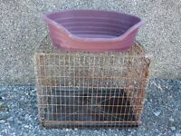 Dog Cage and Basket