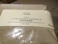 Brand New M&S Antique Gold Chenille Lined Curtains Extra Wise 72 Drop