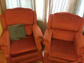 Free Sofa and Armchairs, Worn but Comfortable (Collection)