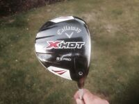 Golf club - Callaway X-HOT, PRO 9.5 degree Driver with matching head cover.