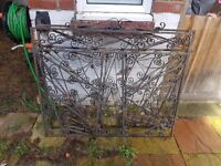 Cast iron driveway gates (heavy)