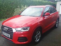2015 Audi Q3 2.0 TDI SE, Misano Red, Low Miles, Fully Service History