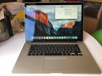 MacBook Pro Retina 15 Quad Core i7, 8gb Ram, 256gb ssd, Intel Iris graphics