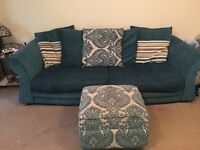 4 seater sofa , 2 seater sofa bed, storage footstool
