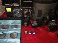 Nikon d5300 camera with lens