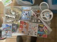 WII KIT. 6 GAMES AND ACCESSORIES
