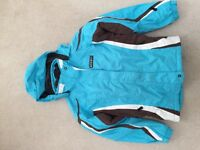 Girls blue ski jacket. Age 10-13