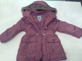 Girls Mantaray Debenhams winter coat size 3-4