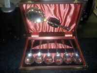 LOVELY EPNS SPOON SET IN ORIGINAL WOODEN BOX